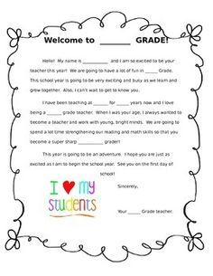 This student welcome letter is great for students in grades 1-6.  Please feel free to simply plug in your grade and name and use it for the begging of next school year! Happy Teaching!!!! XO