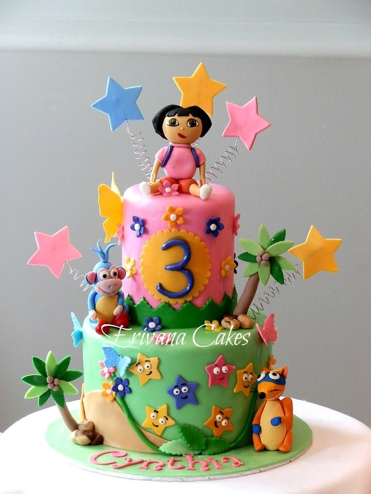 Cake Designs Dora The Explorer : Dora The Explorer , boots and swiper Cake 7 Cake ...
