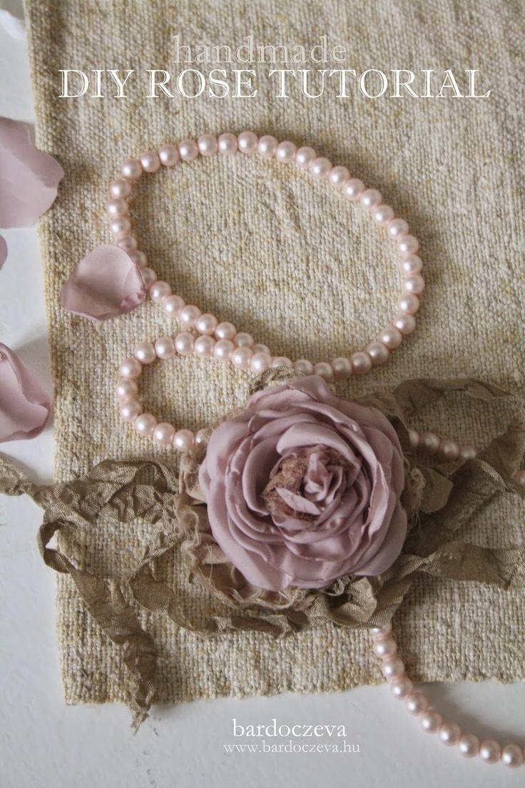 Textil virág elkészítési útmutató - PURE DESIGN