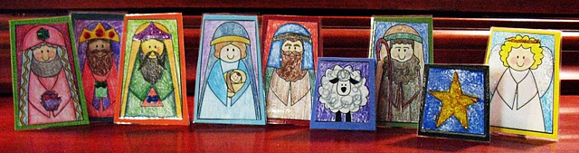 Free Printable Nativity Finger Puppets...Color or BK/WH