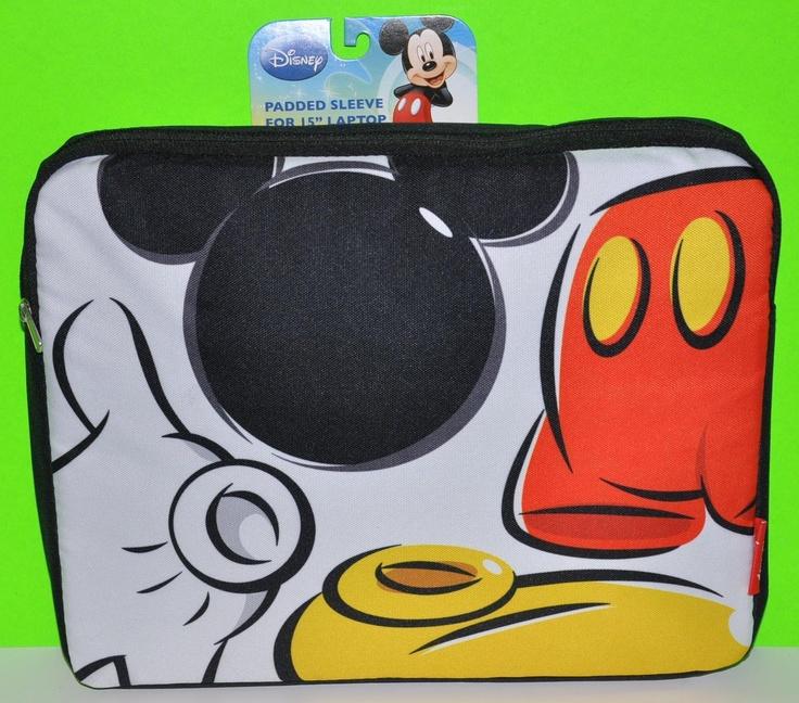 Mickey Mouse Laptop Padded Sleeve Zippered Laptop Sleeve Original Cute USA   eBay