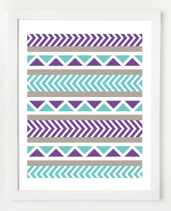 I loved the grey chevron print rug, but Ania loves purple so this will be a great comparable piece. This is a wall art piece but I'm going to paint this for way cheaper