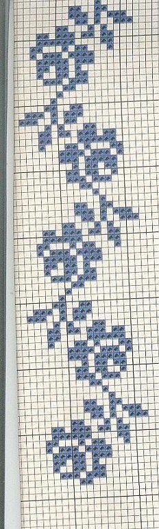 rose bordure  mono http://manualidades.facilisimo.com/foros/punto-de-cruz/un-solo-color_396948_54.html