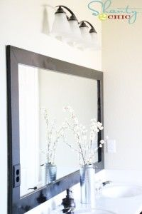 I'd love to work on projects like this bathroom mirror redo #Year2Change