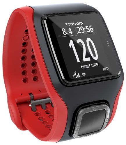 TomTom GPS-Uhr Runner Cardio, Schwarz/Rot, 1RA0.001.00