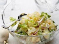 Bramborový salát s ledovým salátem