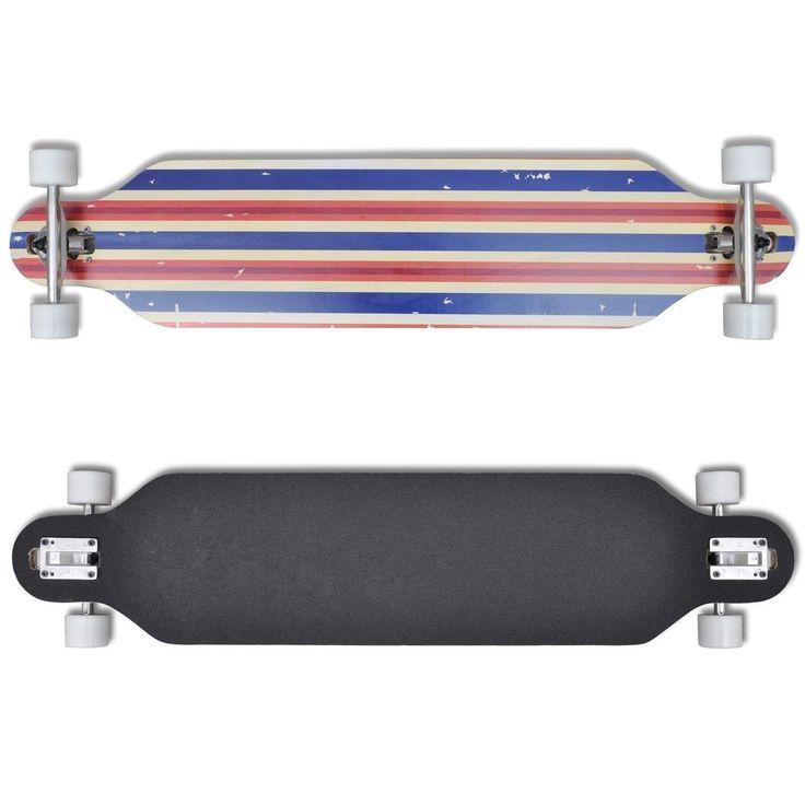 """Dette longboardet/skateboardet er lett å vedlikeholde og vil holde kontrollen selv ved høy fart. Longboardet/skateboardet har en solid 9- lag treverk konstruksjon og et stort overflate til beina. De 60 mm hjul tilbyr også god kontakt med baken enden du svinger eller kjører i rett linje. Det vil bringe deg og dine barn mye gøy. Detaljer °Lengde: 107 cm °Bredde: 9"""" / 22,5 cm °Deck Design: Grønn (..."""