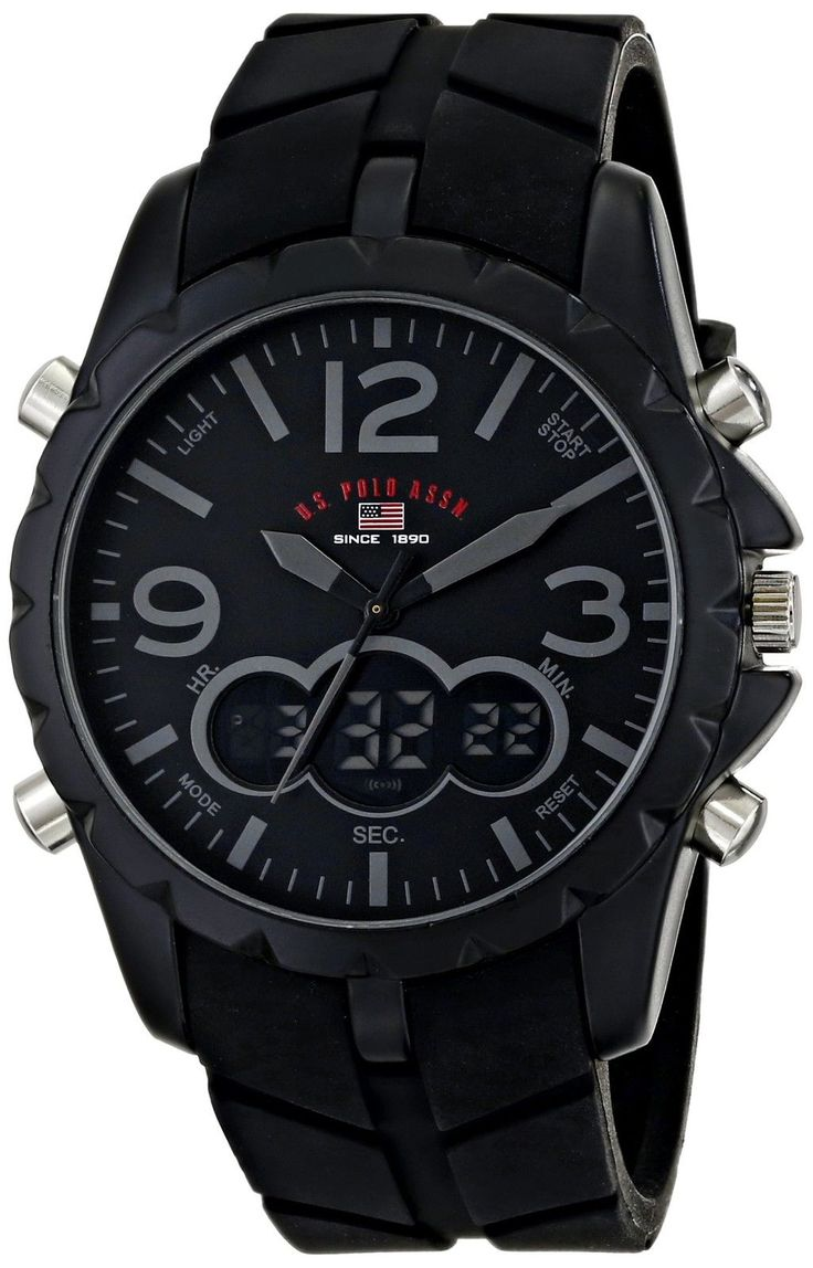 U.S. Polo Assn. Sport Mens US9287 Watch with Black Rubber Band