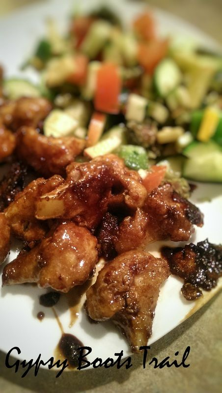 Cauliflower 'Chicken Wings' with Balsamic Glaze OR Sweet and Sour Glaze Recipe from Gypsybootstrail.weebly.com