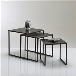 tables gigogne acier laqu vieilli lot de 3 hiba la redoute interieurs table basse dcoration dintrieur pinterest salons tables and interiors