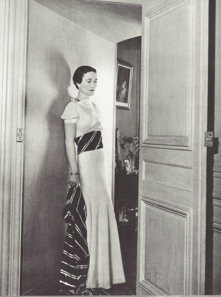 Wallis Simpson, Duchess of Windsor, was one of the chicest women of the early 20th Century.  She wore only the finest Paris couture.