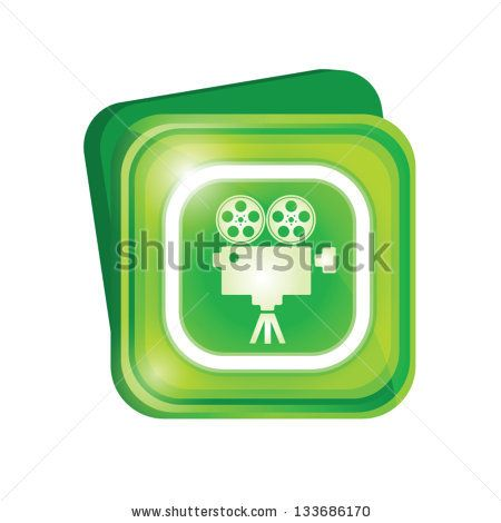 Movie projector sign - stock vector