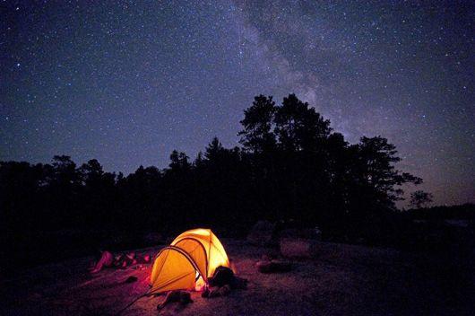 fotos ceu estrelado noite barraca: