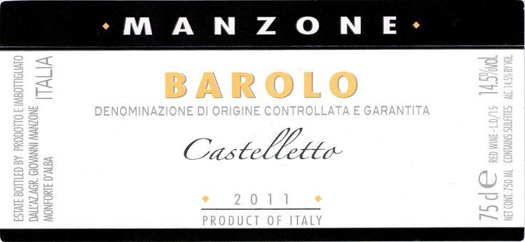 Manzone Barolo Castelletto 2011