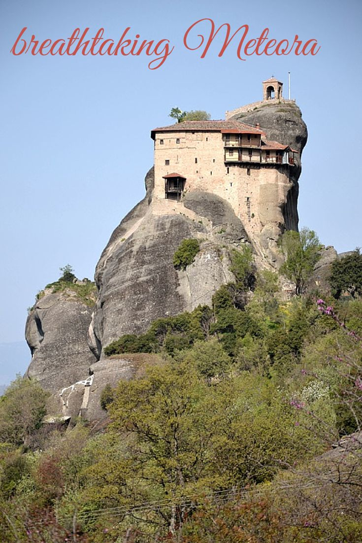 incredible place in Greece with monasteries suspended in the air