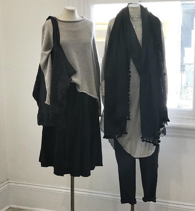 Girls in store today looking very nice in autumn  layers... @jiva_clothing #linen #knits #silkcotton #scarves #bags