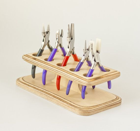 Bureau Organizer, Office organisator, organisator, houder, houtbewerking, houten organisator, opslag gereedschap, instrument organisator, gereedschap houder, plier stand