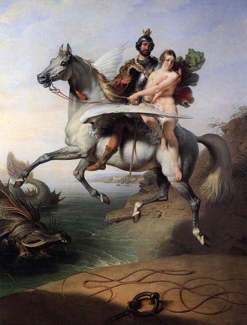 Johann Peter Kraft - Ruggiero and Angelica