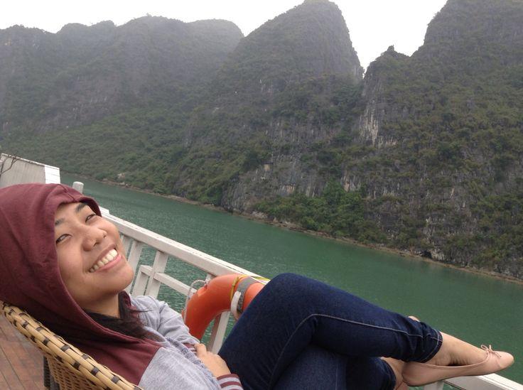 Chilling at Halong Bay