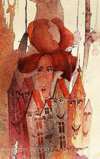 Iris Ladies, watercolour