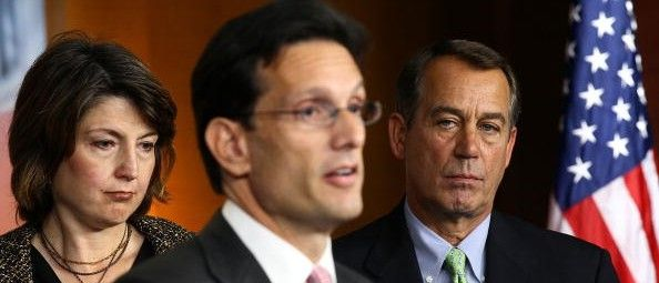 Cantor Campaigning As Anti-Amnesty Champion. Rep. Cathy McMorris Rodgers stands with former House Minority Whip Eric Cantor, now House Majority Leader. (Photo by Alex Wong/Getty Images)