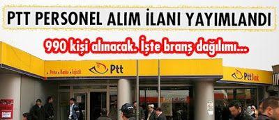 PTT 990 Personel Alımı İş Başvurusu http://www.isbasvurusu.org/2015/07/ptt-990-personel-alimi-is-basvurusu.html