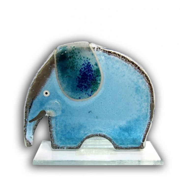 Fused Glass Elephant available at www.artworx.co.uk