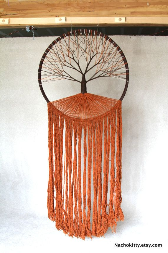 1970s Tree of Life Huge Textile Wall Art by Robert by Nachokitty