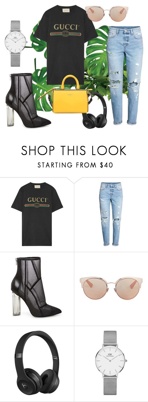 """""""Gucci"""" by juliesvankjaer on Polyvore featuring Gucci, Steve Madden, Christian Dior, Beats by Dr. Dre, Daniel Wellington and Emilio Pucci"""