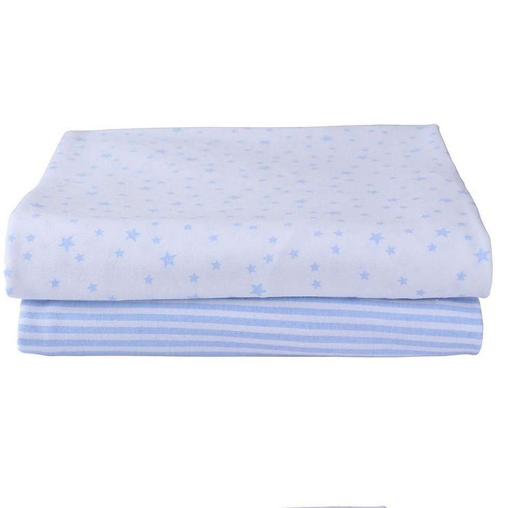 Clair de Lune Pack of 2 Printed Blue Cot Bed Sheets | Dunelm