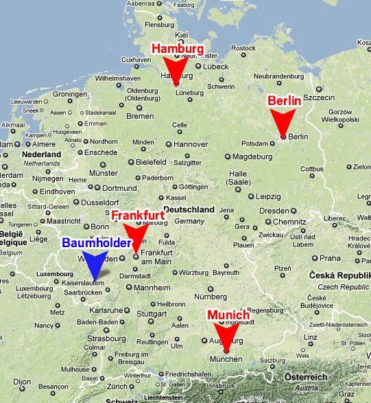 Help Me Get To Germany - Germany map grafenwoehr
