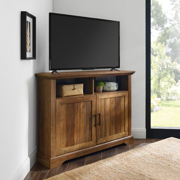 Tomball Corner Tv Stand For Tvs Up To 48 Corner Tv Console Corner Tv Stand Corner Tv Cabinets Corner tv stands for 50 inch tv