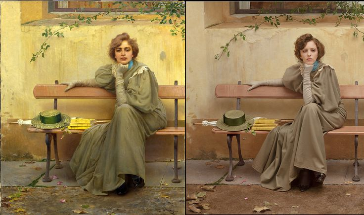 Sogni by Vittorio Corcos (1896) / Dreams by The Essence of Decadence http://www.tanialazlo.com/the_essence_of_decadence.html