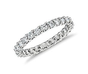 U-Prong Eternity Diamond Ring in Platinum (1 ct. tw.) #BlueNile cc @Alex Leichtman Phelps