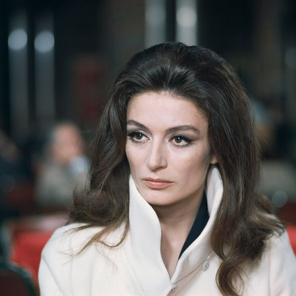French actress Anouk Aimee pictured during filming of a scene in the Sidney Lumet directed film 'The Appointment' in Rome Italy in June 1968