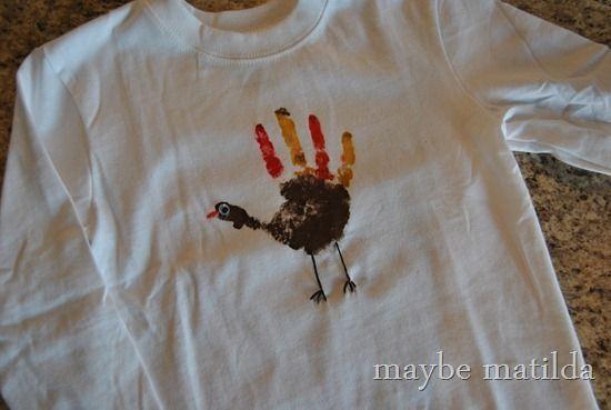 Make a Turkey Handprint Thanksgiving Shirt (Dare to DIY)