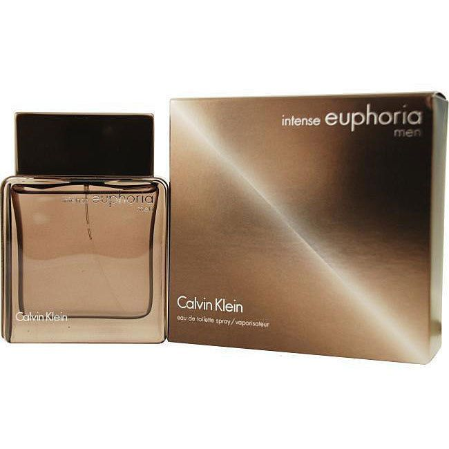 Calvin Klein Intense Euphoria Men's 1.7-ounce Eau de Toilette Spray (Euphoria Men Intense Edt Spray 1.7 oz For Men), Red ginger