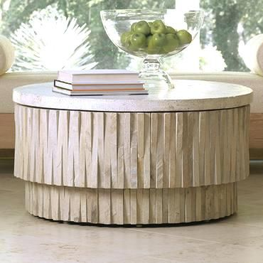 Perfect Side Table Round Stone Top Side Table Brookside Fossil Stone Coffee Table  Stone Side Table Coral