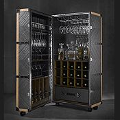 Cocktail Cabinets - COCKTAIL CABINET A0704 EXOTIC LEATHER