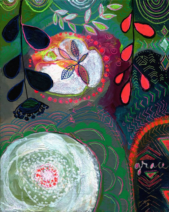 thick floral essence paintings ~ alena hennessy ~ new eclass