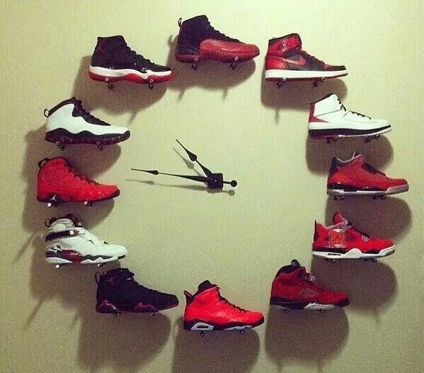 You could do it with heels for a young lady s room. 17 Best images about Air Jordan Wall Art Deco Room Ideas