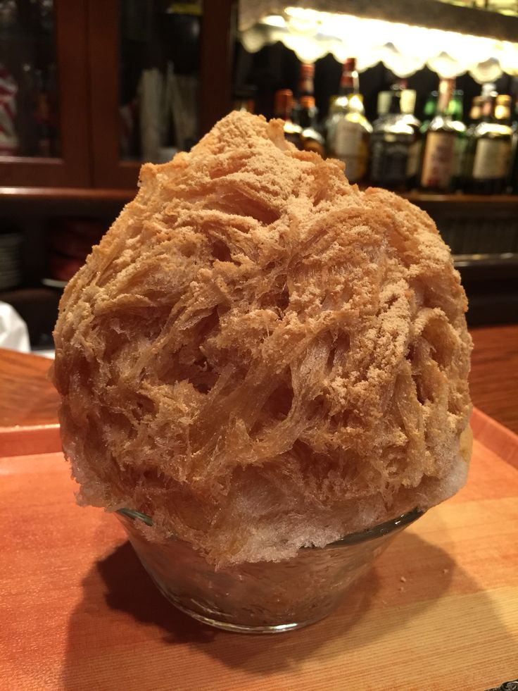 かき氷喫茶バンパク@三軒茶屋「和歌山ほうじ茶きなこ」750円