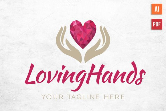 Diamond Heart Hands Logo by Lucion Creative on Creative Market