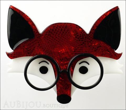Erstwilder Brooch Pin Oscar Wildenfox Fox Red Gallery