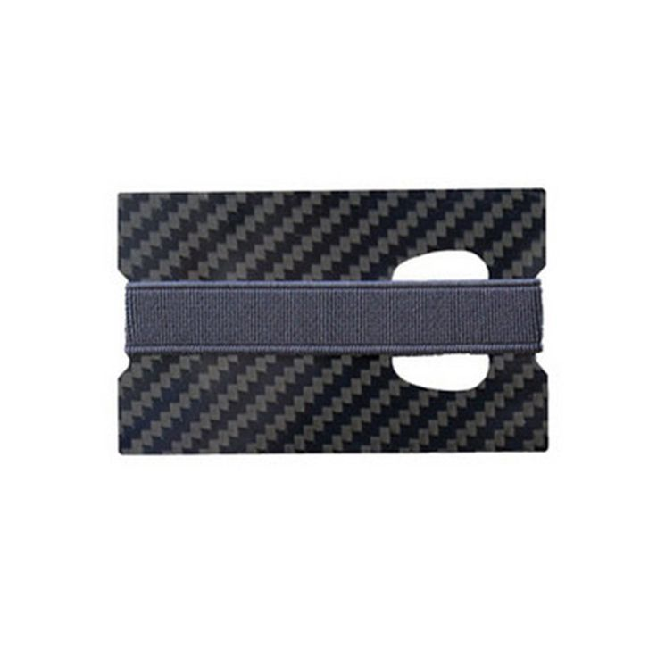 Men Card Holder Carbon Fiber Wallet I Clip Carbon Wallet A Square-sided Real Carbon Card Single-sided Black 2017 Hot Wholesale