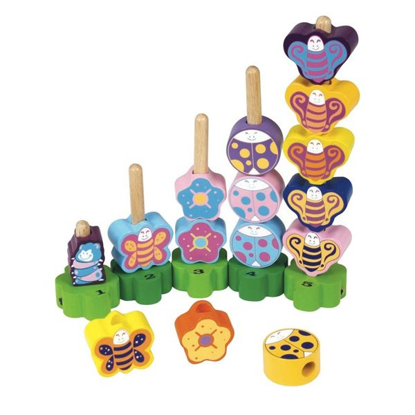 Wooden Toddler Toys Insect Stairs Counting Game www.greenanttoys.com.au