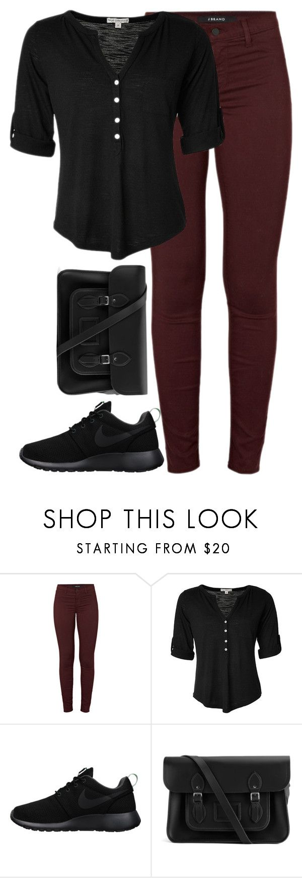 """""""Unbenannt #3743"""" by mund-tot ❤ liked on Polyvore featuring J Brand, NIKE and The Cambridge Satchel Company"""