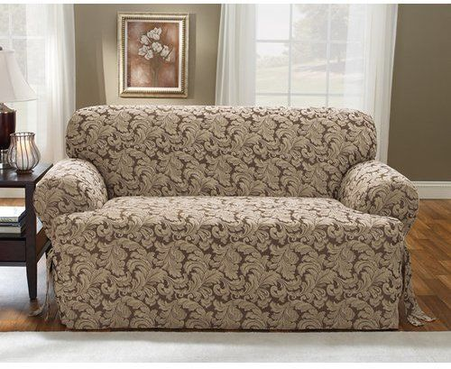 sure fit scroll classic tcushion loveseat slipcover