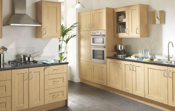 Linslade Shaker Kitchen Range Is A Natural Oak Effect