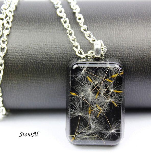 Eingegossene Pusteblumen ♥ von StoniAl-Schmuck auf DaWanda.com